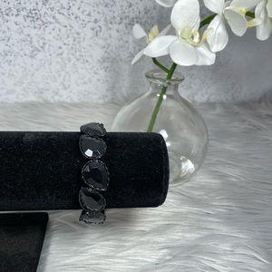 🆕 Simply Vera Wang Black Crystal Stretch Bracelet